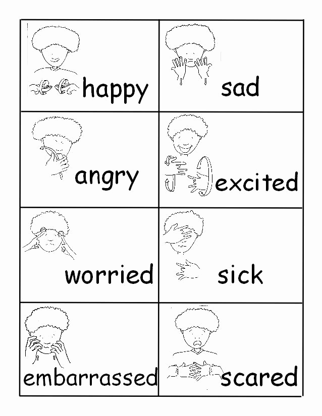 Sign Language Printable Worksheets Best Of Materials for Teaching Preschool Age Deaf Children