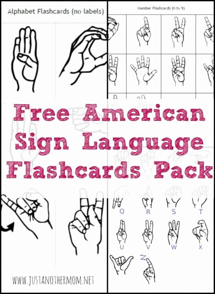 Sign Language Printable Worksheets Luxury Free asl Flashcard Packs