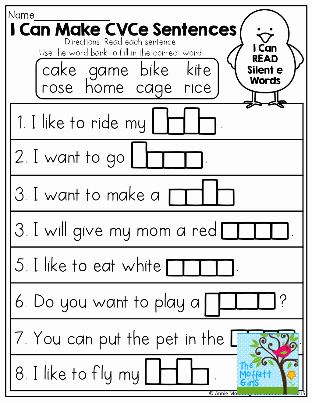 Silent E Words Worksheets Beautiful 1st Grade Silent E Worksheet