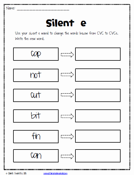 Silent E Words Worksheets Best Of Life In First Silent E Magic E Sneaky E