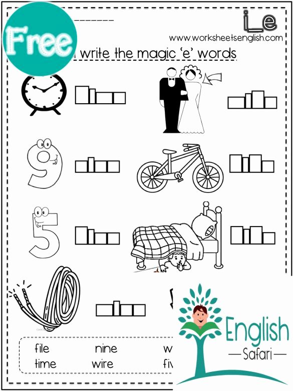 Silent E Words Worksheets Lovely Silent E Worksheets Pdf Free