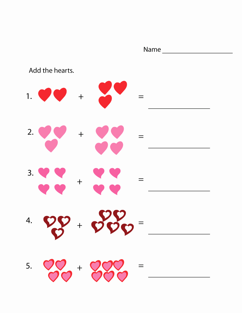 Simple Addition Worksheets for Kindergarten Beautiful Addition Worksheets with Up to 10