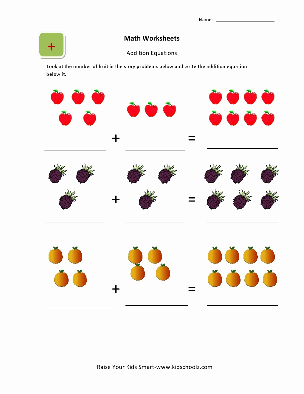Simple Addition Worksheets for Kindergarten Beautiful Beginning Addition Worksheets