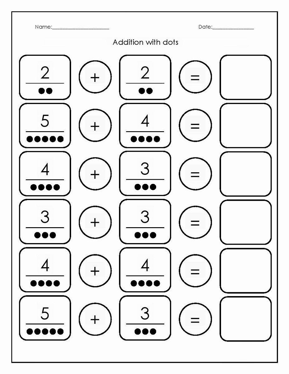 Simple Addition Worksheets for Kindergarten Beautiful Free Printable Basic Math Worksheets