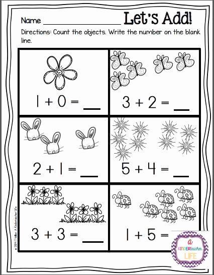 Simple Addition Worksheets for Kindergarten Best Of Simple Addition Worksheets Early Years Dice Kindergarten