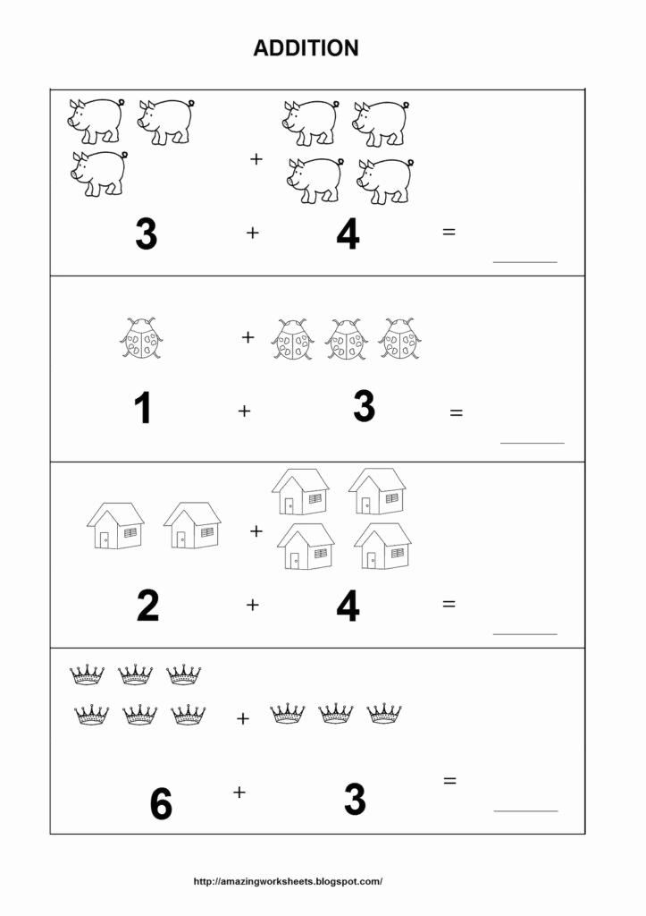 Simple Addition Worksheets for Kindergarten Inspirational Coloring Pages Addition Worksheets for Kindergarten
