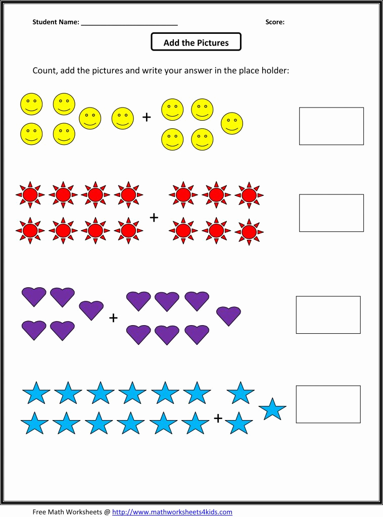 Simple Addition Worksheets for Kindergarten Inspirational Simple Addition Worksheets for Educations Simple Addition