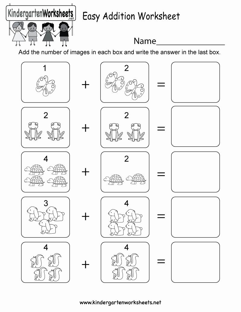Simple Addition Worksheets for Kindergarten Luxury Easy Addition Worksheet Free Kindergarten Math Worksheet
