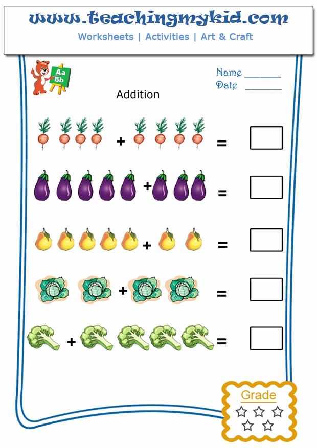 Simple Addition Worksheets for Kindergarten Luxury Kindergarten Addition Worksheets Pictorial Addition 6