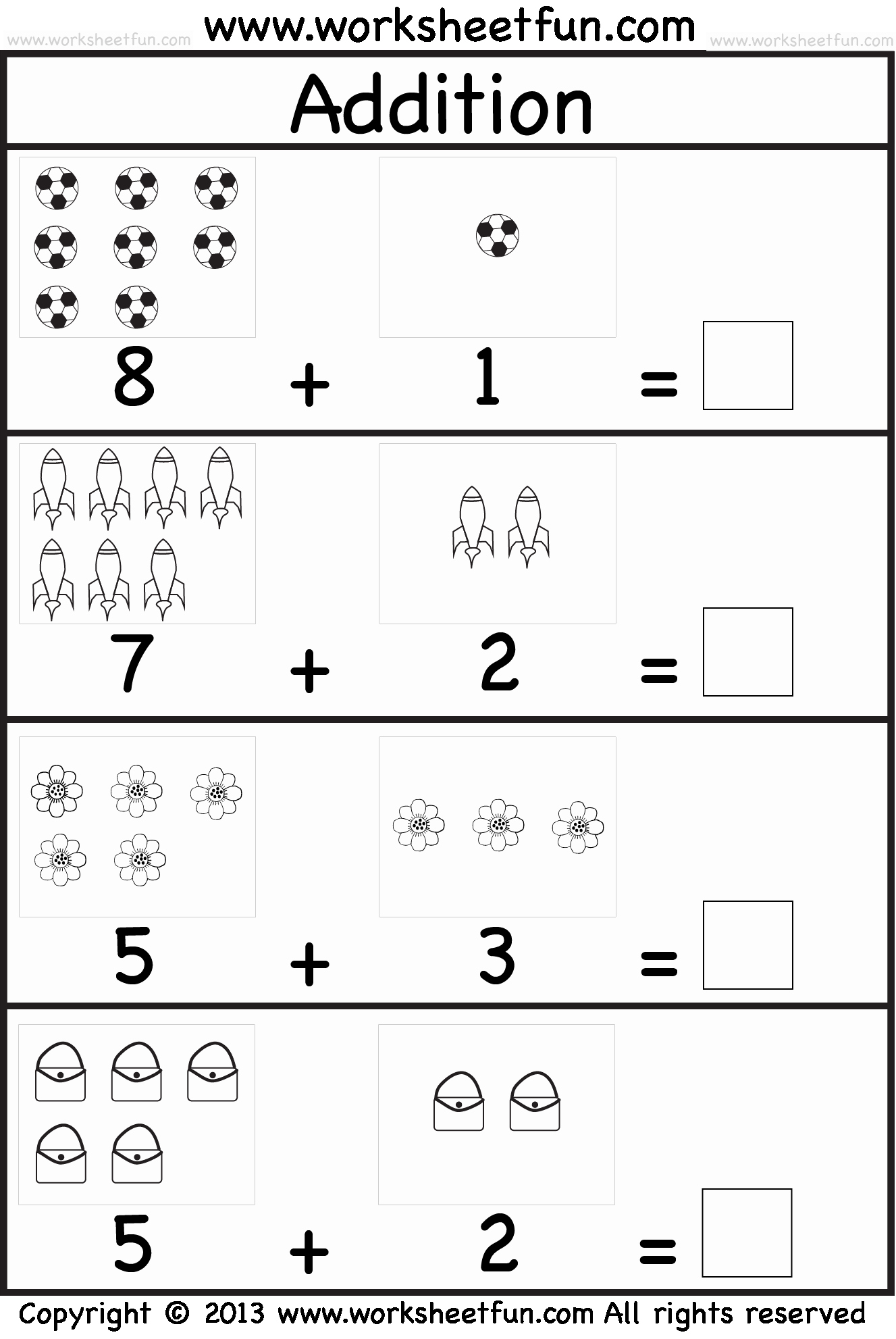 Simple Addition Worksheets for Kindergarten New Picture Addition – Beginner Addition – Kindergarten