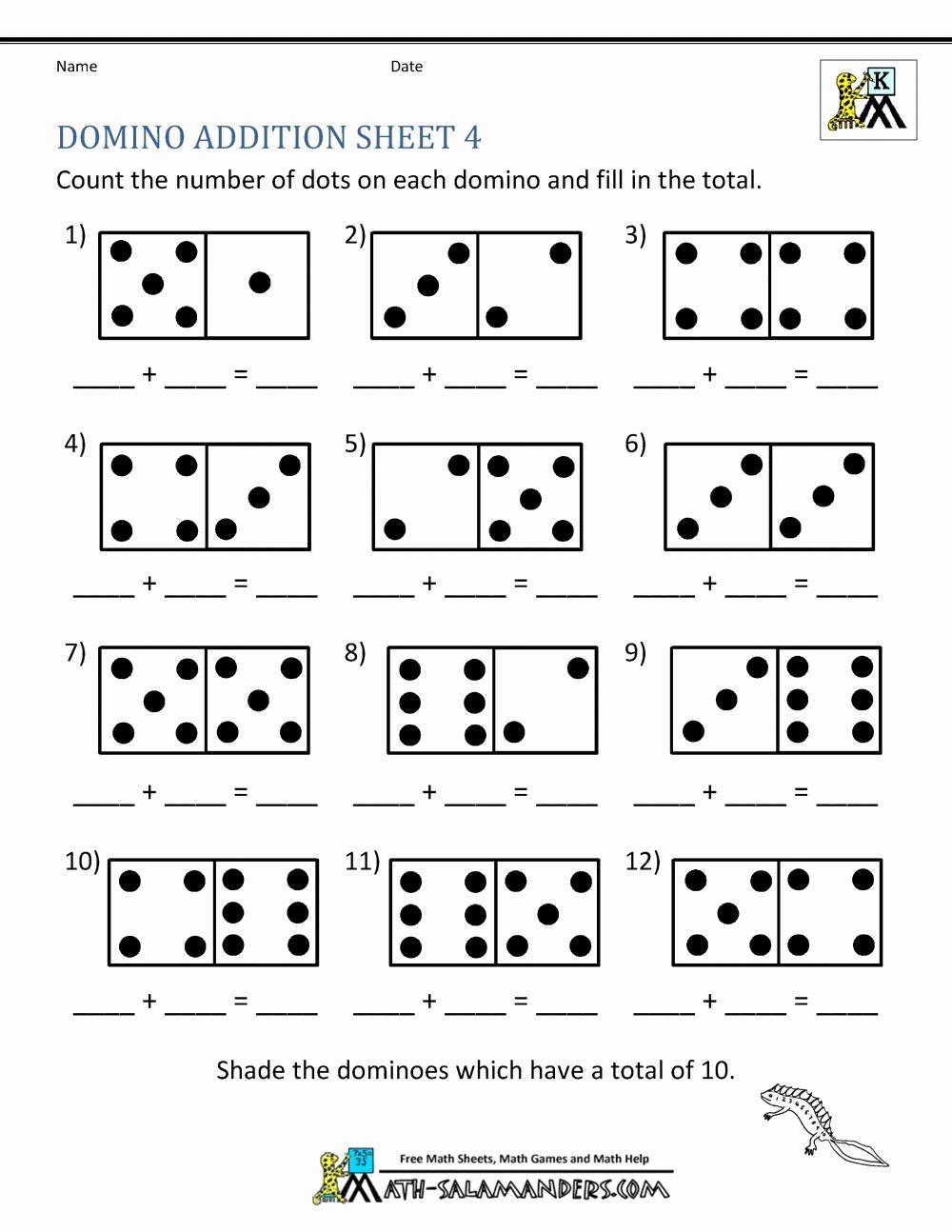 Simple Addition Worksheets for Kindergarten Unique Basic Addition Worksheet Preschool Addition Basic