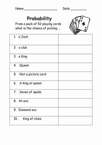 Simple Probability Worksheets Pdf New 50 Simple Probability Worksheet Pdf In 2020