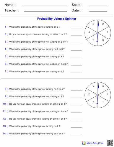 Simple Probability Worksheets Pdf New 50 Simple Probability Worksheet Pdf