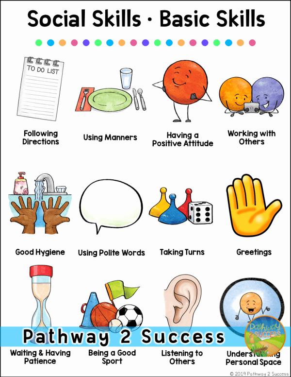 Social Skills Activities Worksheets Awesome 12 Basic social Skills Kids Need the Pathway 2 Success