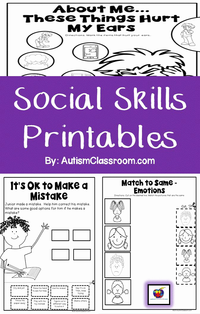 Social Skills Activities Worksheets Best Of 33 social Skills Worksheet for Kids Worksheet Resource Plans