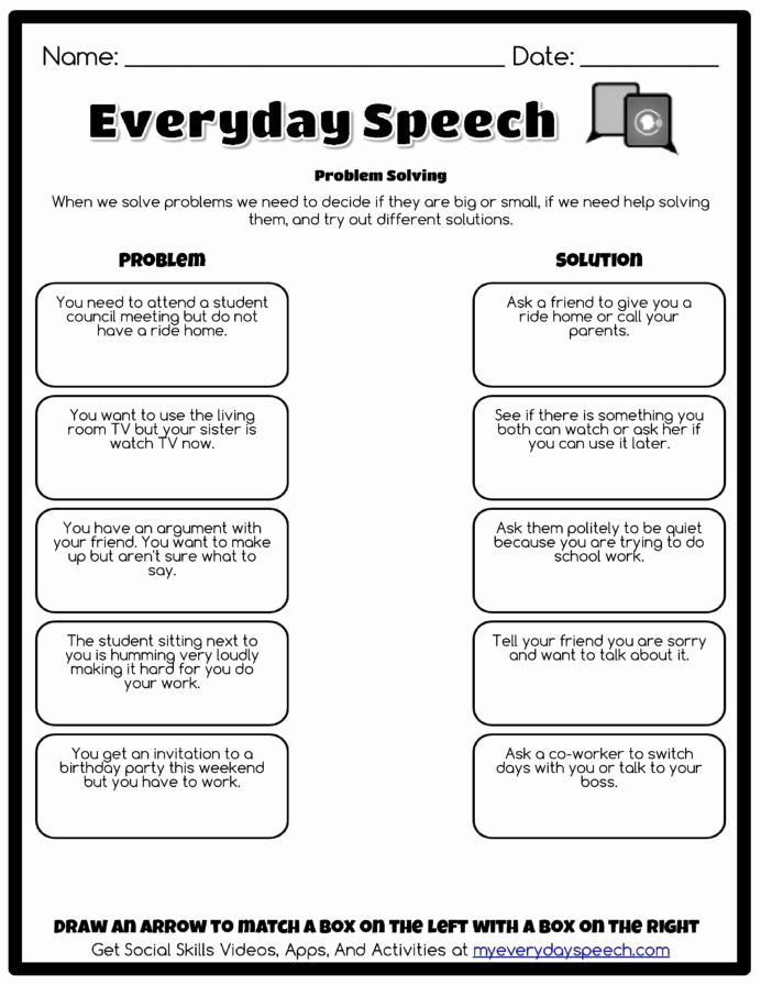 Social Skills Activities Worksheets Lovely Worksheet Creator with social Skills Perspective