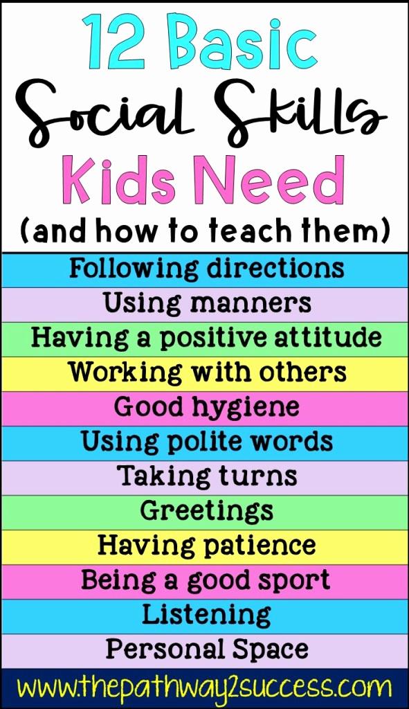 Social Skills Activities Worksheets Luxury 12 Basic social Skills Kids Need the Pathway 2 Success