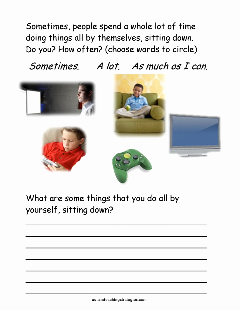 Social Skills Activities Worksheets Luxury Seven social Skills Worksheets for Kids with asd who are