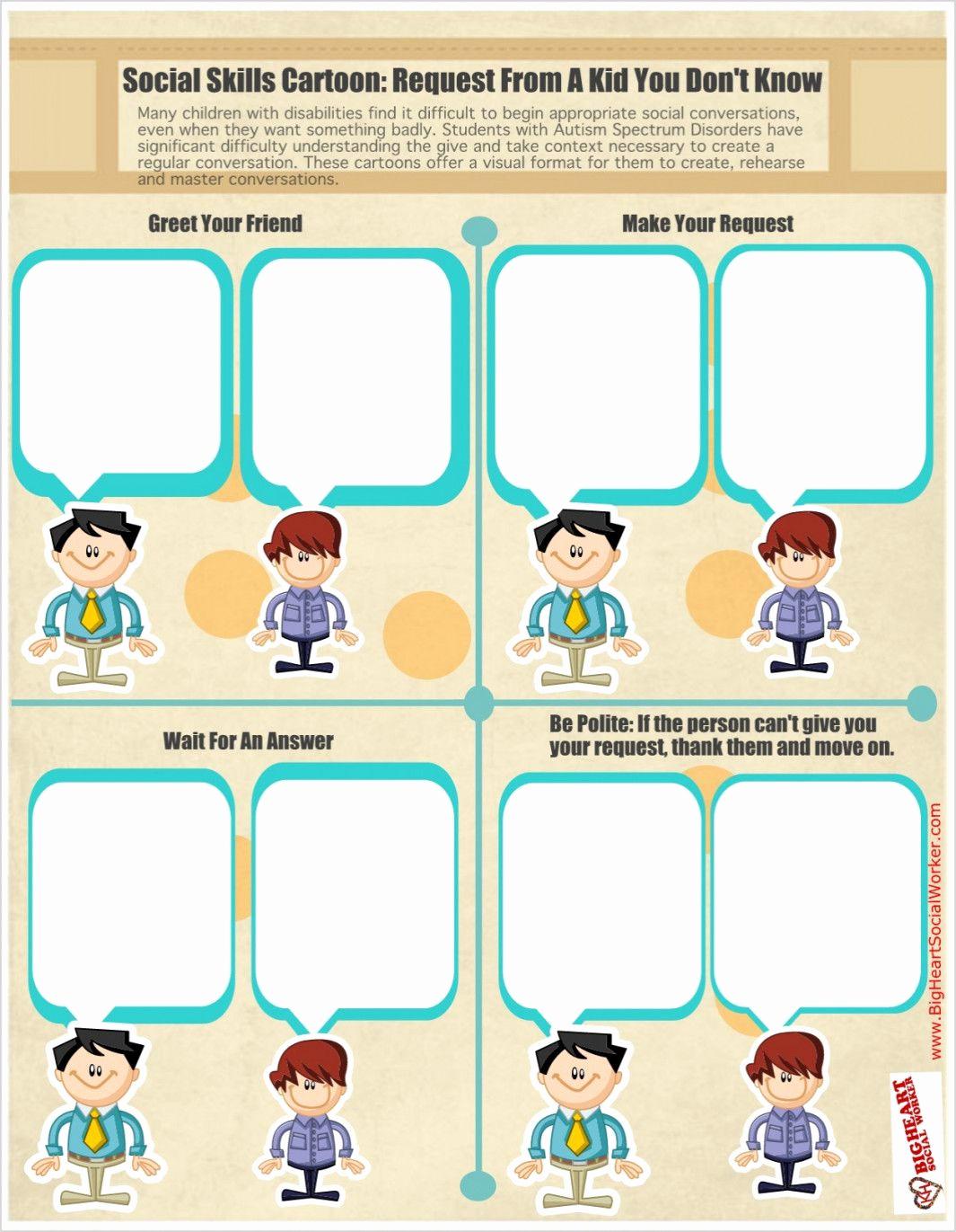 Social Skills Activities Worksheets Unique social Skills Worksheets for Autism