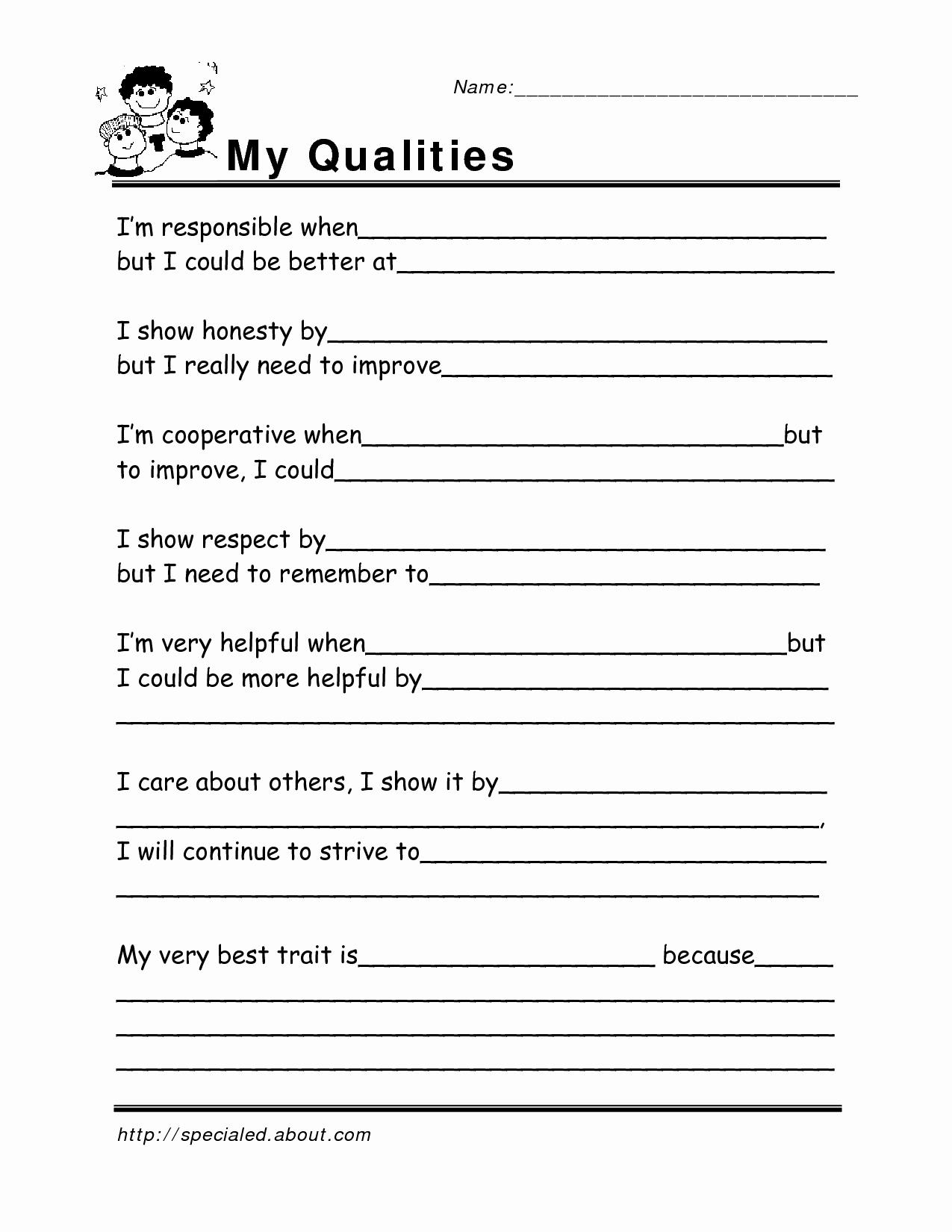 Social Skills Worksheets for Kindergarten Elegant 12 Best Of Career Worksheets for Adults Jobs and