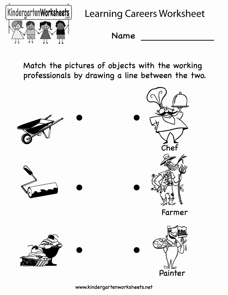 Social Skills Worksheets for Kindergarten Inspirational 12 Best Of Career Worksheets for Adults Jobs and