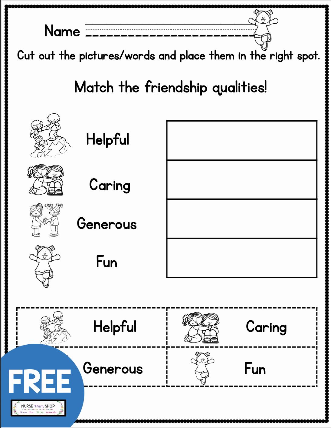 Social Skills Worksheets for Kindergarten Lovely Free Friendship tools Printables Teach Kindergarten and