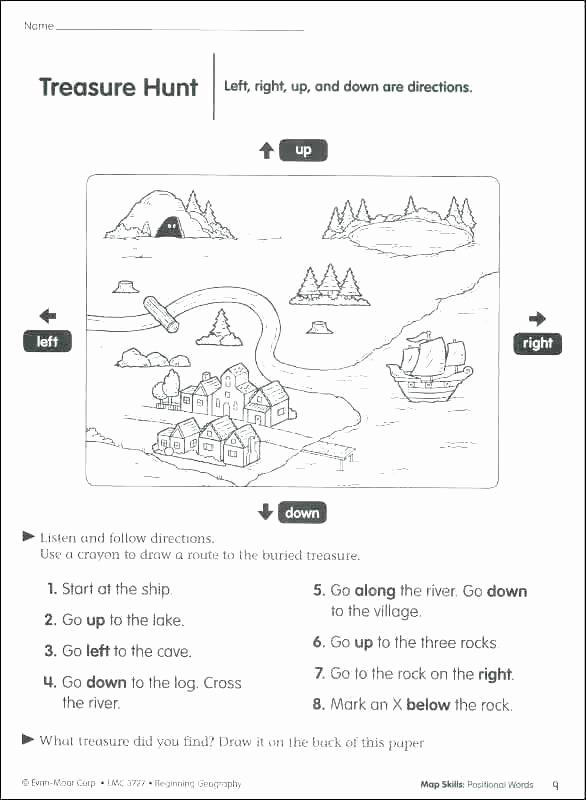 Social Skills Worksheets for Kindergarten Luxury Following Directions Printables social Skills Worksheets