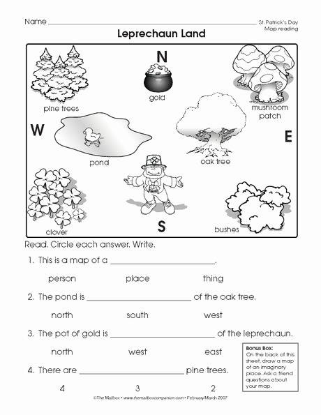 Social Skills Worksheets for Kindergarten New Reading A Map Worksheet Easy and Free to Click and Print