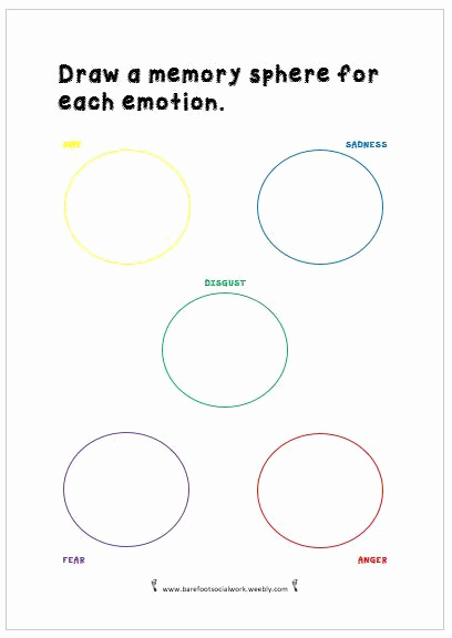 Social Work Worksheets New social Work Worksheet Inspired by Pixar S Inside Out Draw