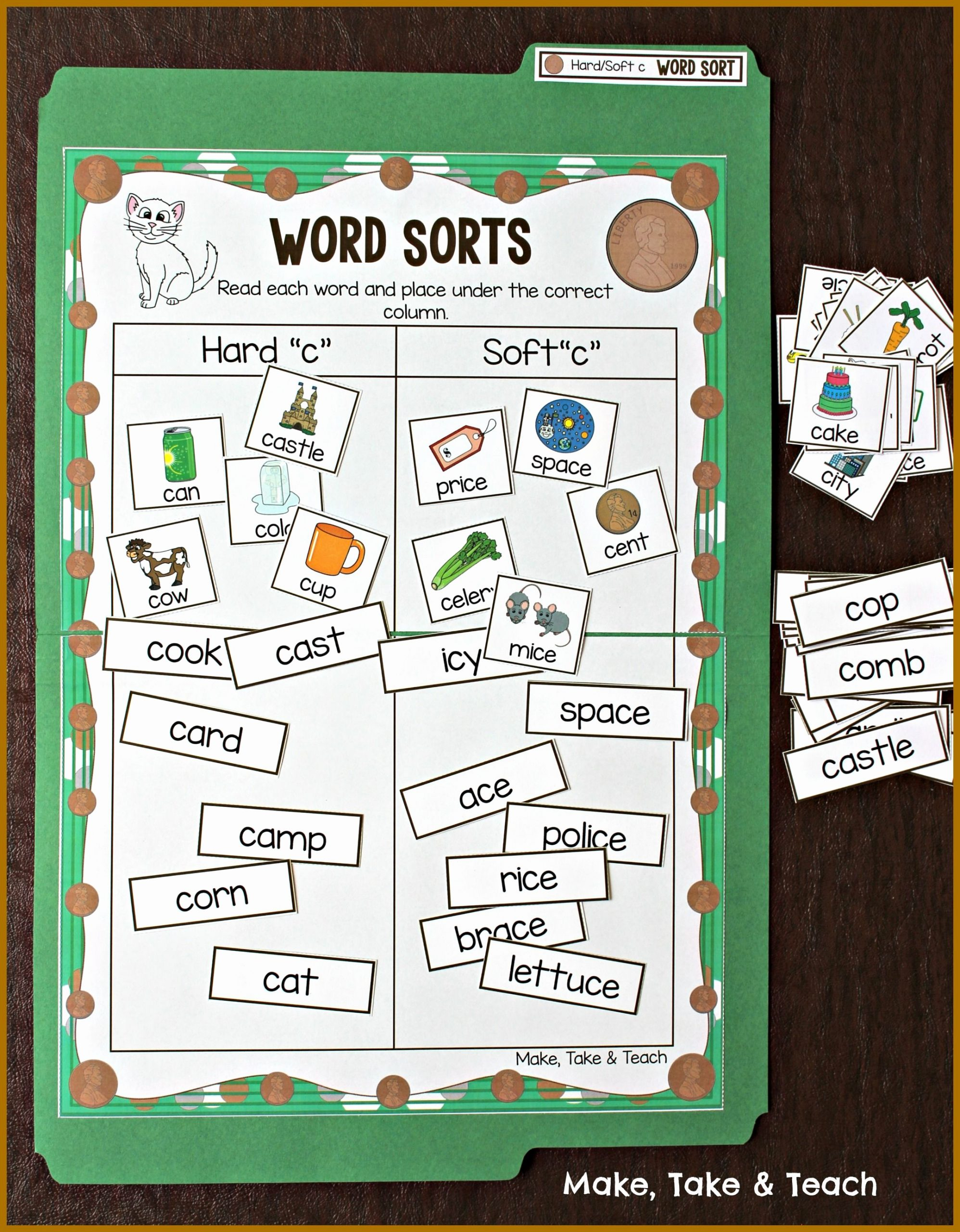 Soft C and G Worksheets Awesome Hard and soft sounds Of C and G Word sorting Activity