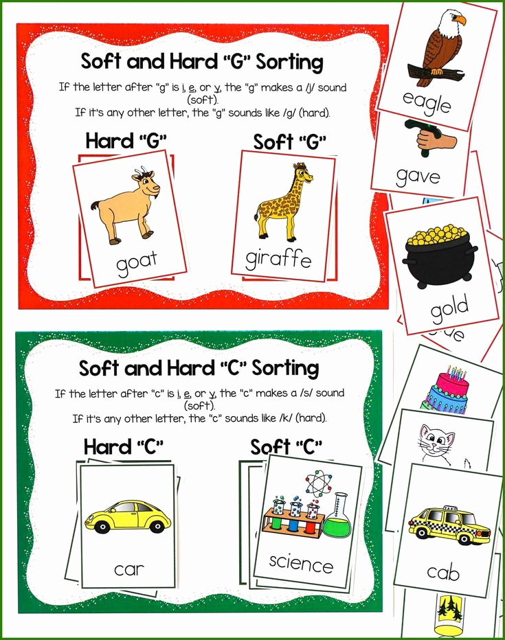 Soft C and G Worksheets Awesome Teaching Hard and soft sounds Of C and G