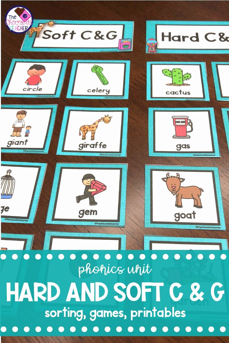 Soft C and G Worksheets Beautiful Hard and soft C & G Activities Posters sorting Game
