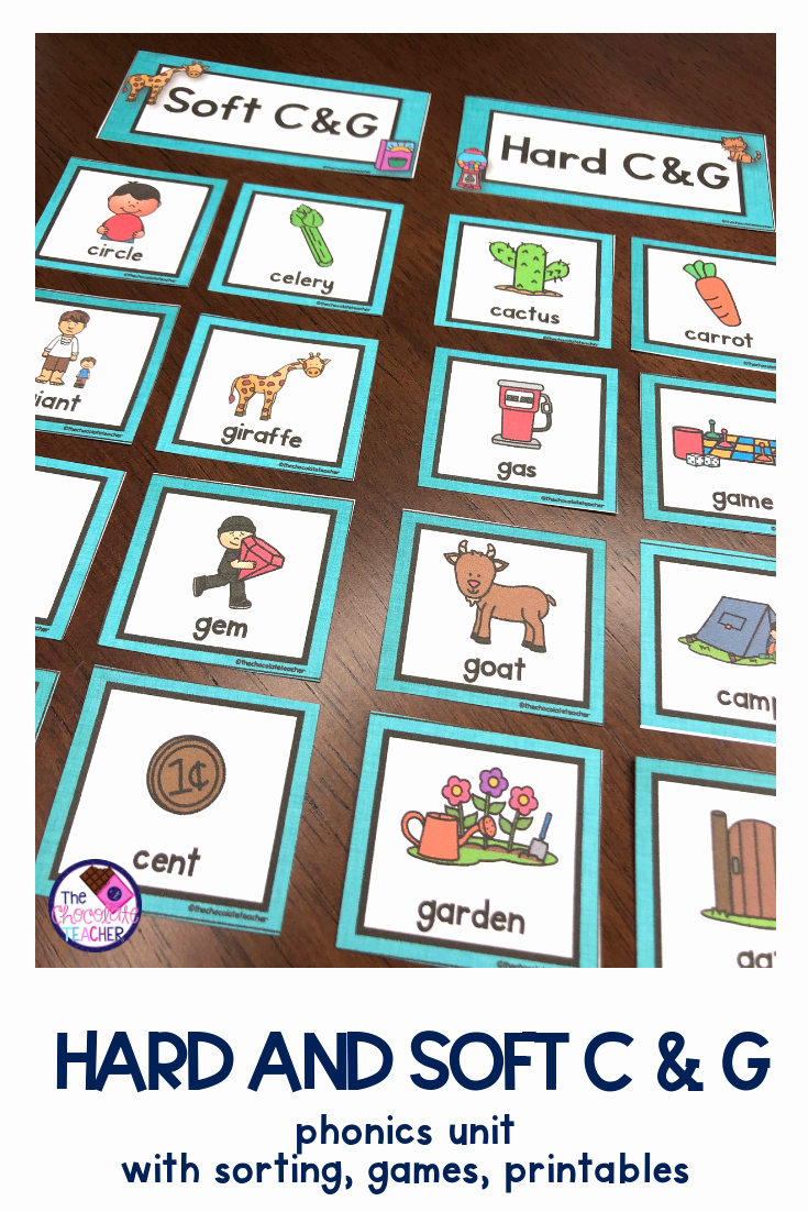 Soft C and G Worksheets Elegant Hard and soft C & G Activities Posters sorting Game