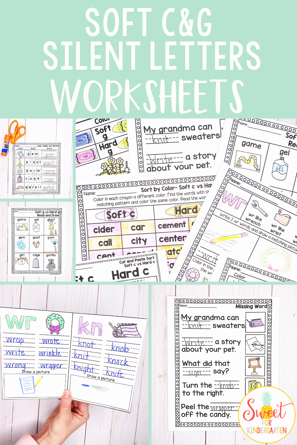 Soft C and G Worksheets Lovely soft C soft G and Silent Letters Worksheets Distance