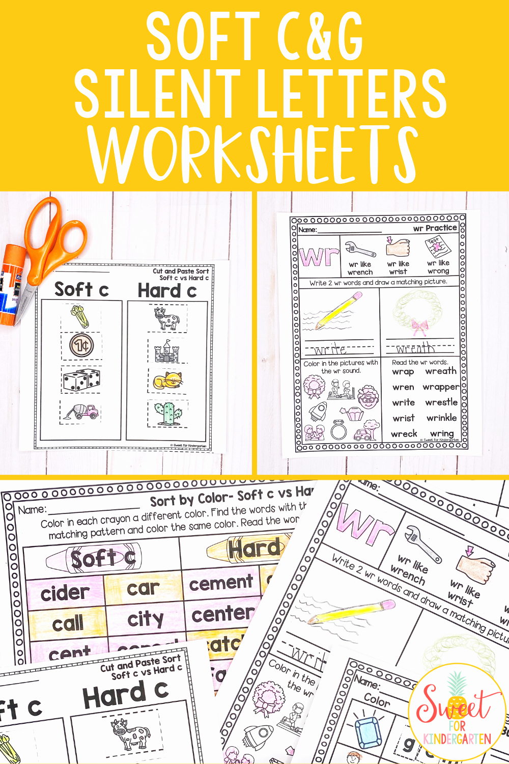 Soft C and G Worksheets Luxury soft C soft G and Silent Letters Worksheets Distance