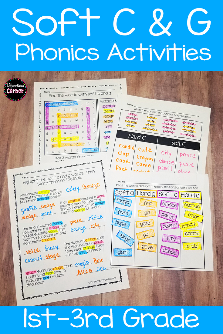 Soft C and G Worksheets New Hard and soft C and G Activities Distance Learning