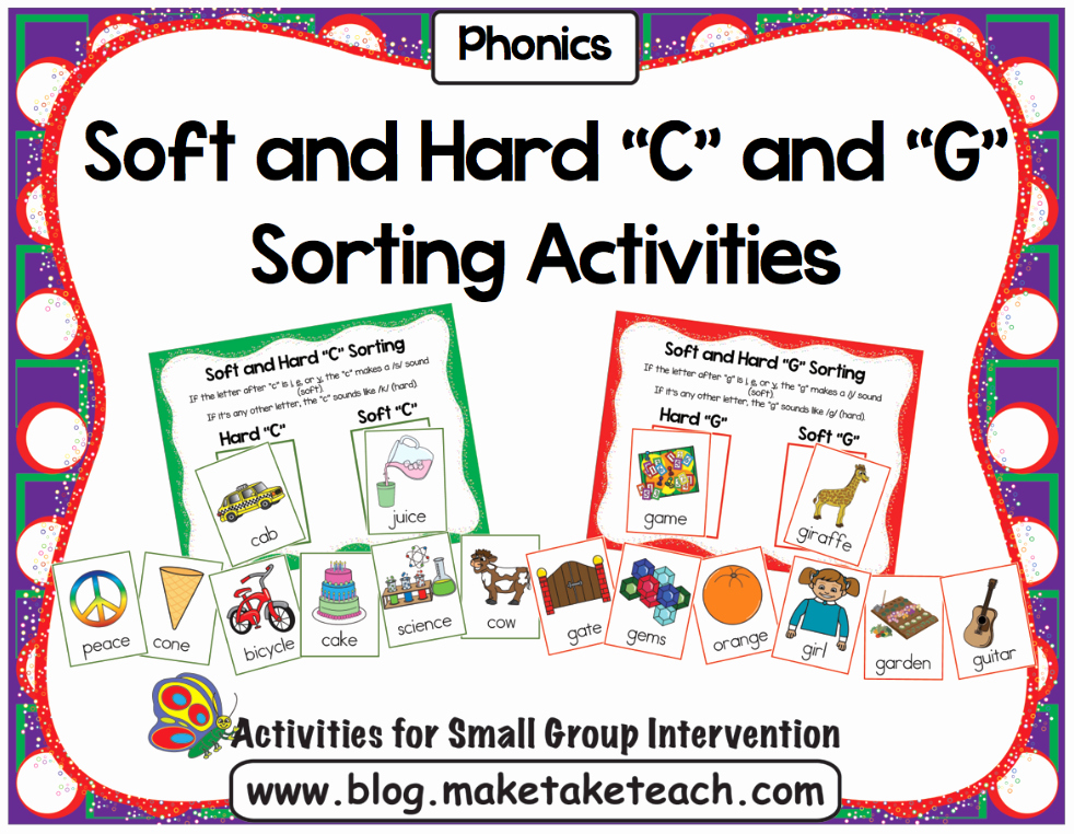 """Soft C and G Worksheets Unique Teaching the Hard and soft """"c"""" and """"g"""" Make Take & Teach"""