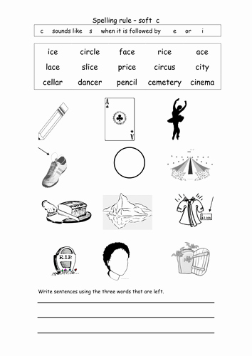 Soft C Words Worksheets Beautiful Spelling soft C by Coholleran Teaching Resources Tes
