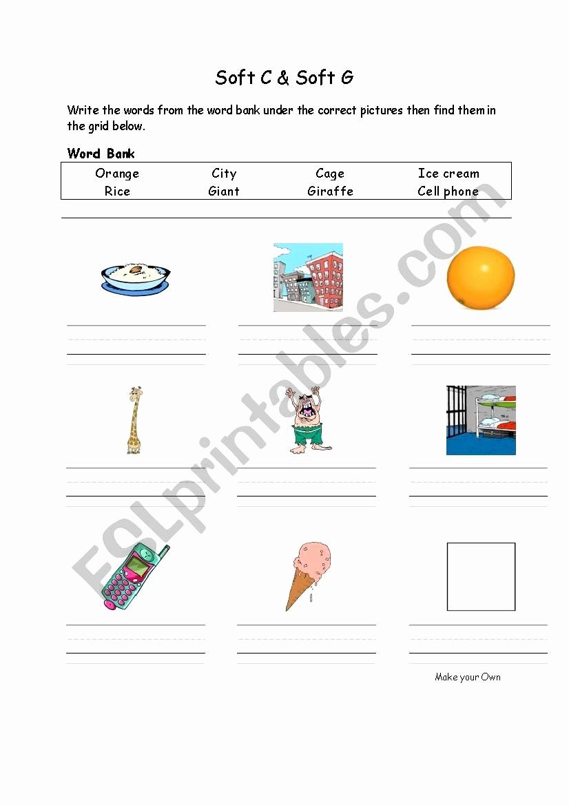 Soft C Words Worksheets New 20 soft C Words Worksheets Dzofar Printable Worksheets