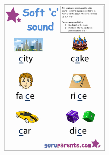 Soft C Words Worksheets Unique Special Letter Worksheets