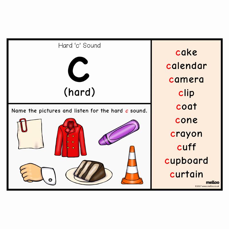 Soft C Worksheets Unique soft C Hard C English