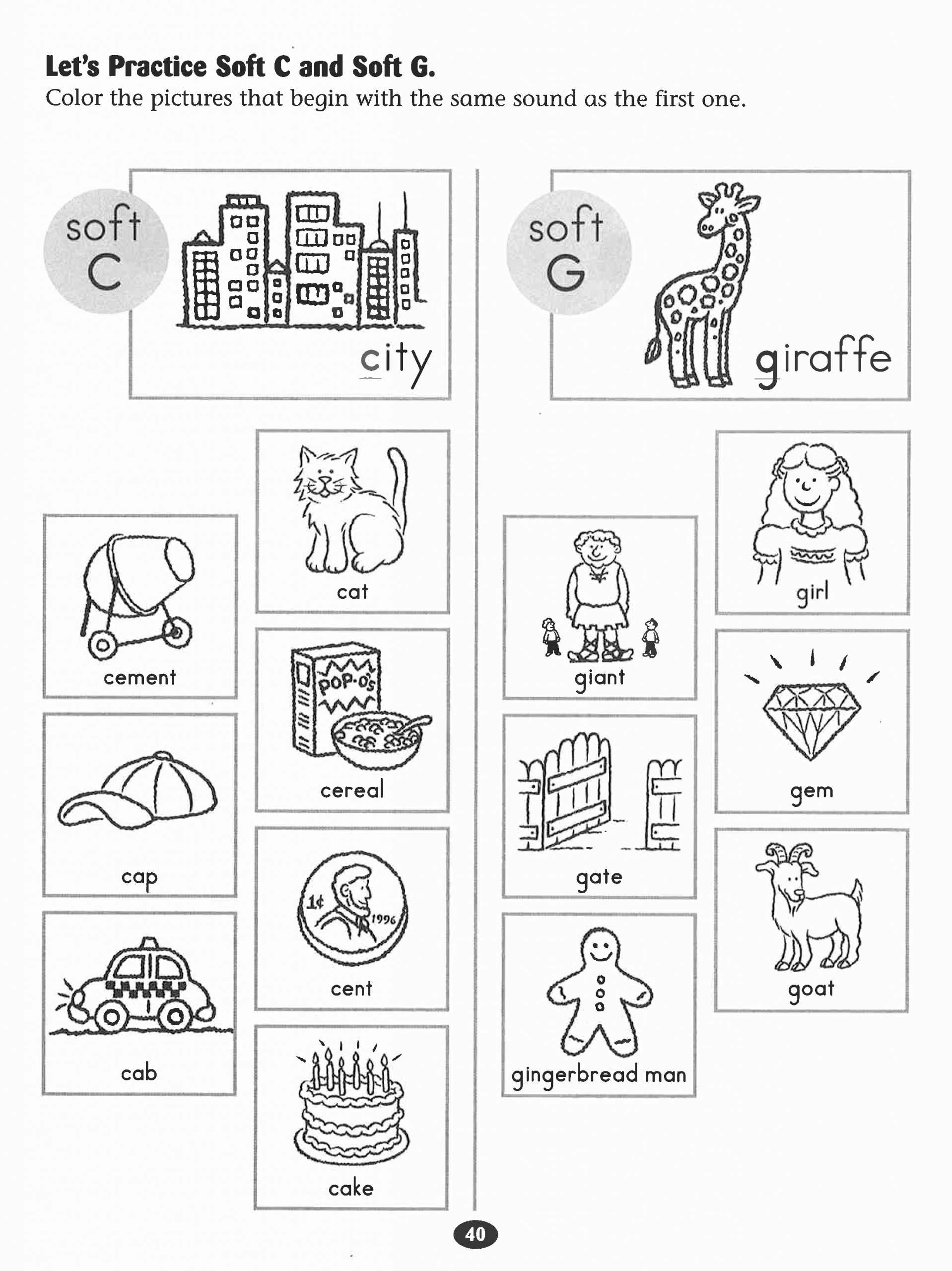 Soft G Worksheet Luxury Let S Practice soft C and soft G Worksheet with Images