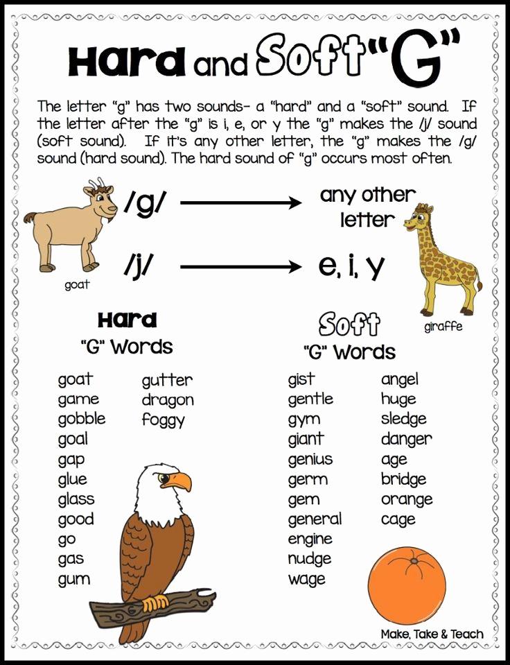 "Soft G Worksheet New Teaching the Hard and soft ""c"" and ""g"" Make Take & Teach"