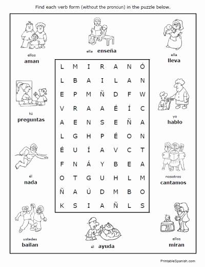 Spanish Kindergarten Worksheets Awesome Spanish Regular Verbs 30 Page Worksheet Packet