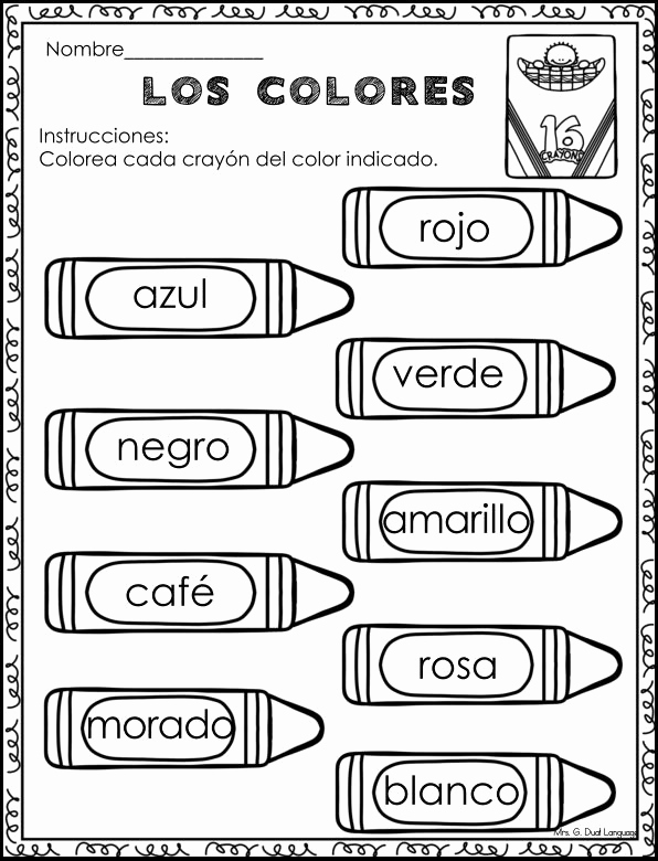 Spanish Kindergarten Worksheets Lovely Back to School Literacy Work Packet In Spanish