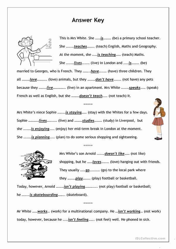Spanish Present Progressive Worksheets Inspirational 30 Present Progressive In Spanish Worksheet