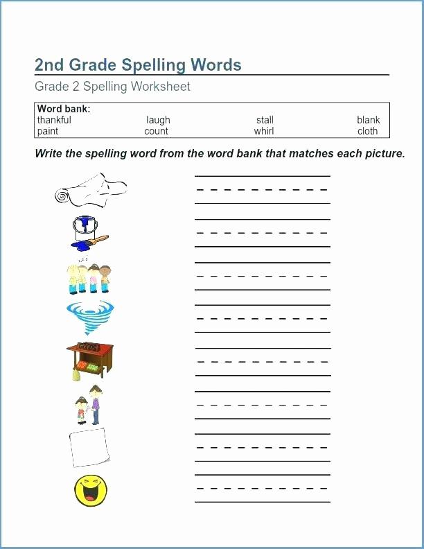 Spelling Worksheets 2nd Graders New 2nd Grade Spelling Worksheets Best Coloring Pages for Kids