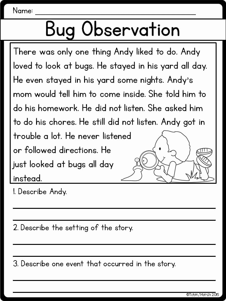 Story Elements Worksheets 2nd Grade Beautiful 20 Story Elements Worksheet 2nd Grade