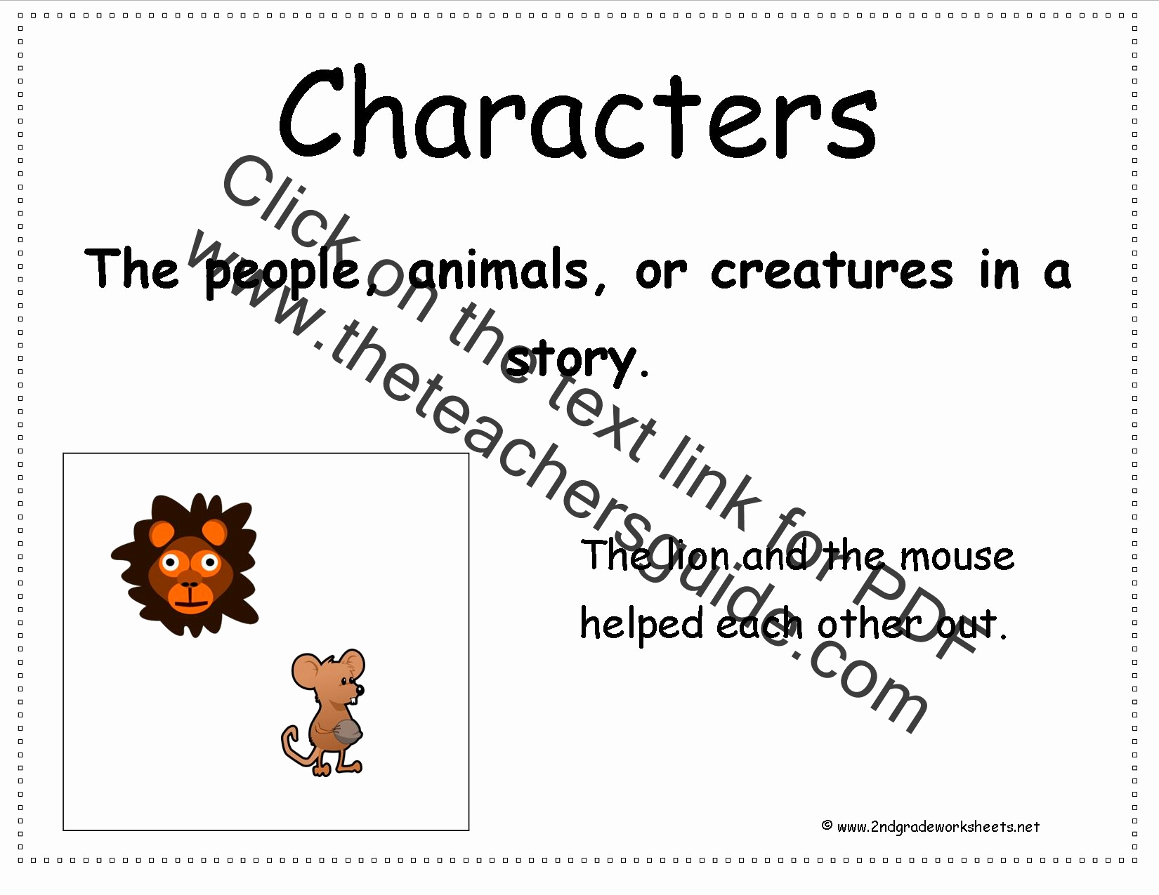 Story Elements Worksheets 2nd Grade Best Of Second Grade Story Element Reference Cards