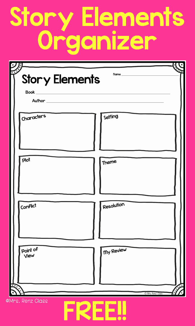 Story Elements Worksheets 2nd Grade Fresh Story Elements Story Map Freebie